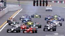 Start: Mika Hakkinen, McLaren and Michael Schumacher, Ferrari lead