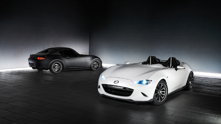 Mazda MX-5 Miata Speedster Evolution and RF Kuro show cars