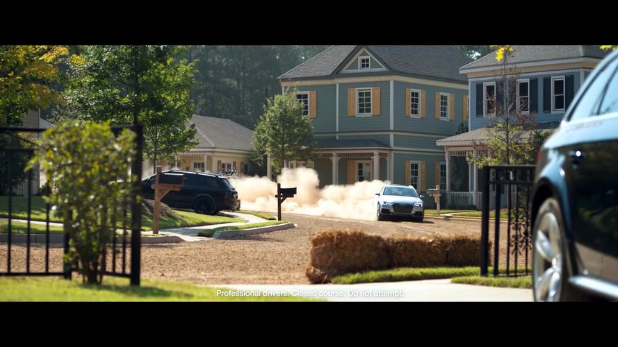 Suburbia becomes a rally stage in Audi A4 Allroad promo