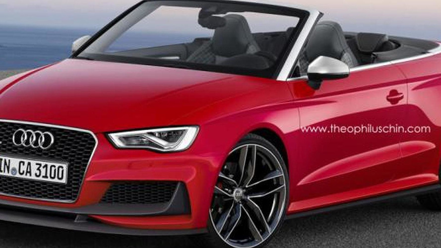 Audi RS3 Cabriolet rendered based on clubsport quattro concept