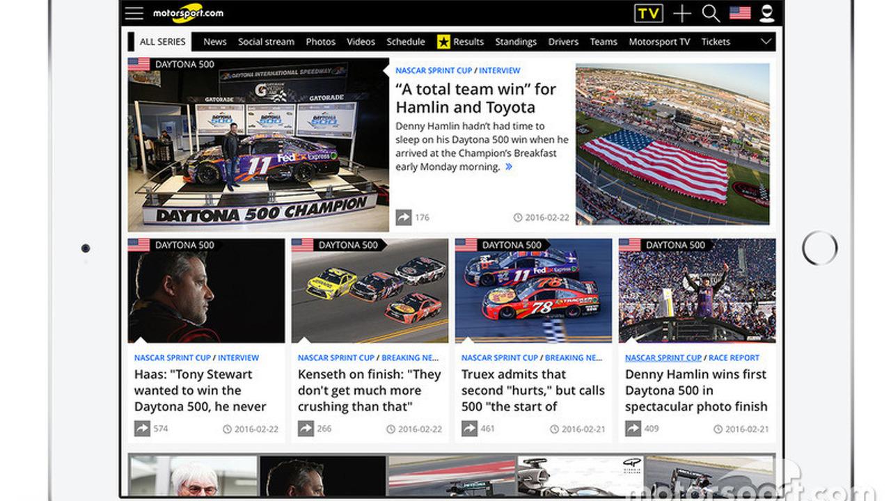 Screen shot of Motorsport.com USA edition