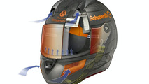 Schumacher Helps Design Motorcycle Helmet