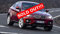 BMW X6 is Sold Out