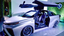 Toyota delivers first Mirai FCVs to customers, introduces Back to the Future themed concept