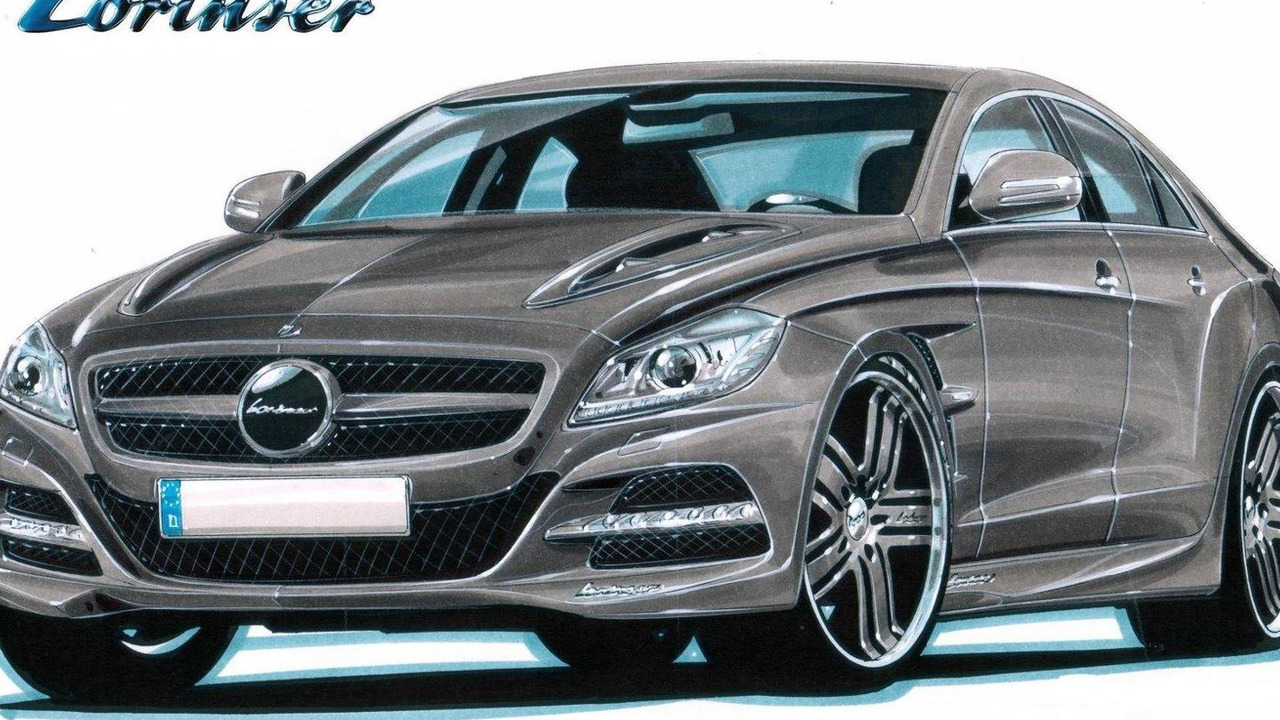 2012 Mercedes CLS styling program design sketch by Lorinser 07.06.2010