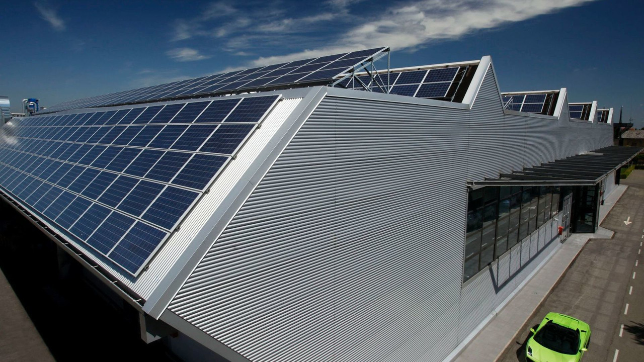 Lamborghini roof-top photovoltaic system