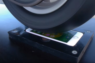Watch a Motorcycle Burnout on Top of an iPhone