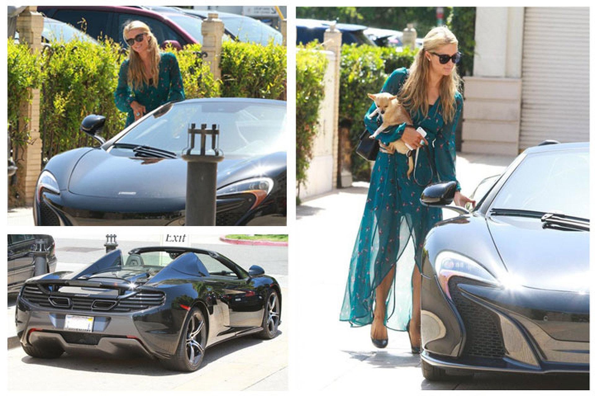 Paris Hilton Gets Sunshine in her McLaren 650S Spider