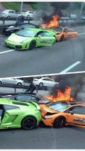 Lamborghini trio burns in Malaysia, no injuries reported [video]