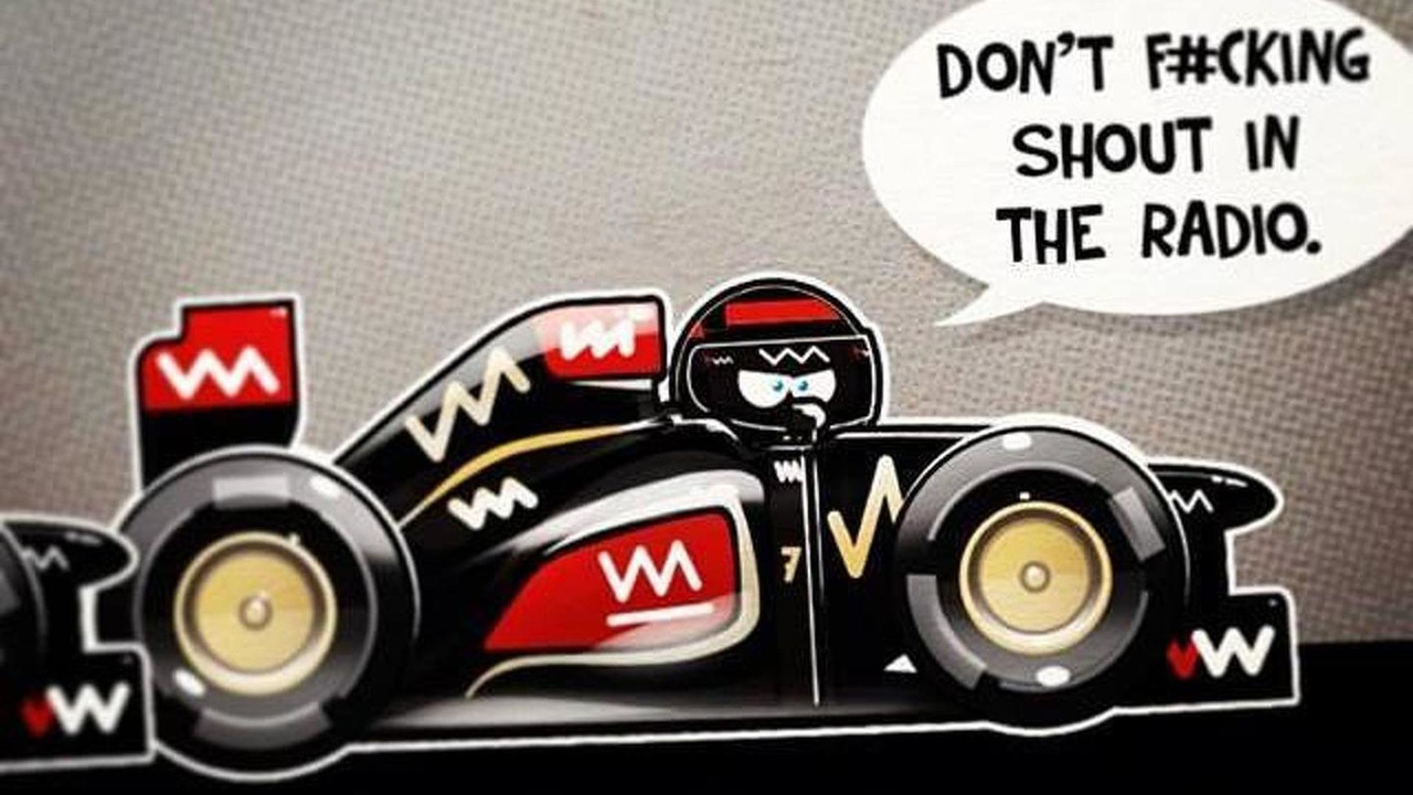Kimi Raikkonen expletive illustration during Indian Grand Prix 31.10.2013