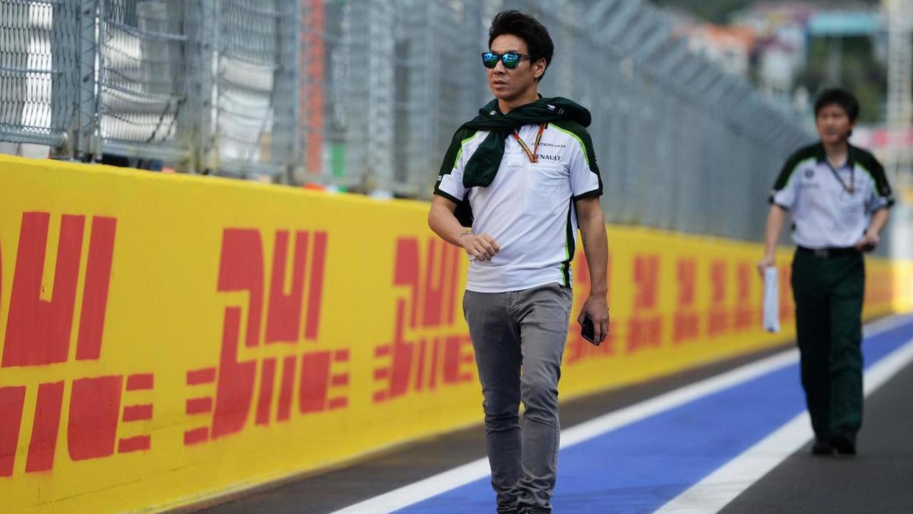 Kamui Kobayashi (JPN) walks the circuit, 09.10.2014, Russian Grand Prix, Sochi Autodrom / XPB
