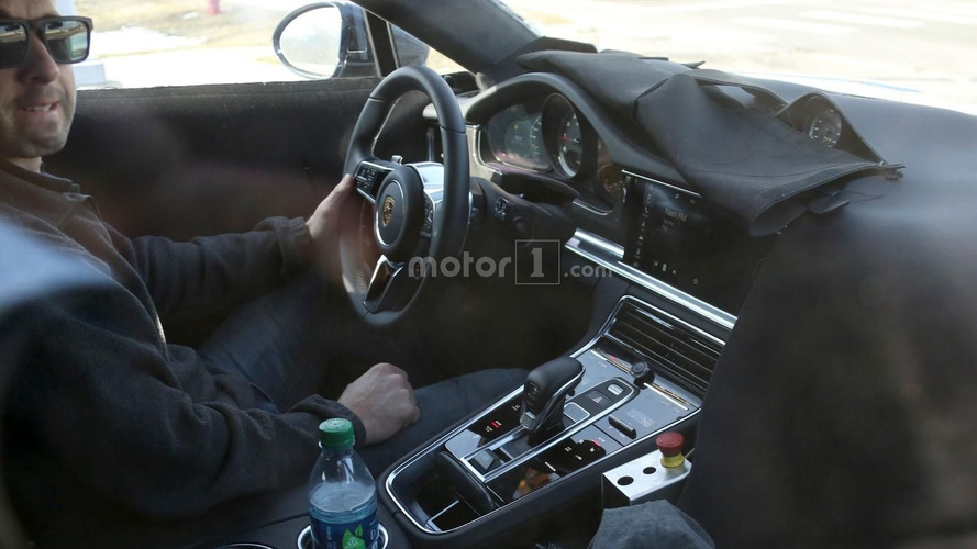 2017 Porsche Panamera spied with new capacitive-touch controls