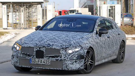 All-new Mercedes CLS spied up close