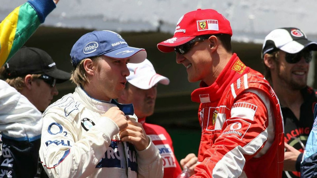Nick Heidfeld (GER), BMW Sauber F1 Team, Michael Schumacher (GER), Scuderia Ferrari, Brazilian Grand Prix, 22.10.2006, Sao Paulo, Brazil