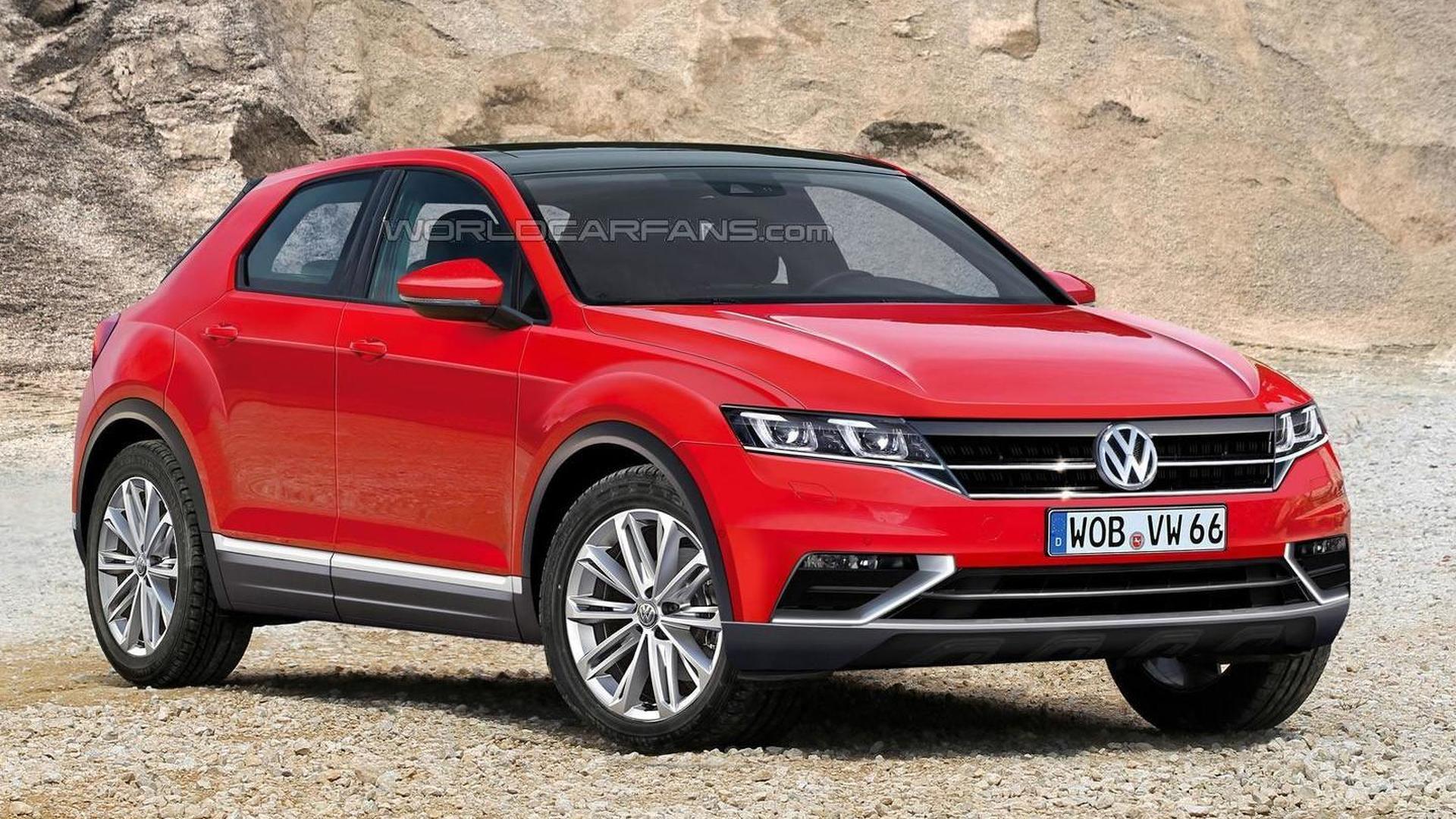 Volkswagen Polo-based crossover rendered to slot below Tiguan