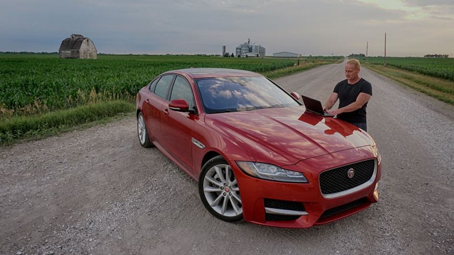 Jaguar XF put through its paces hunting twisters