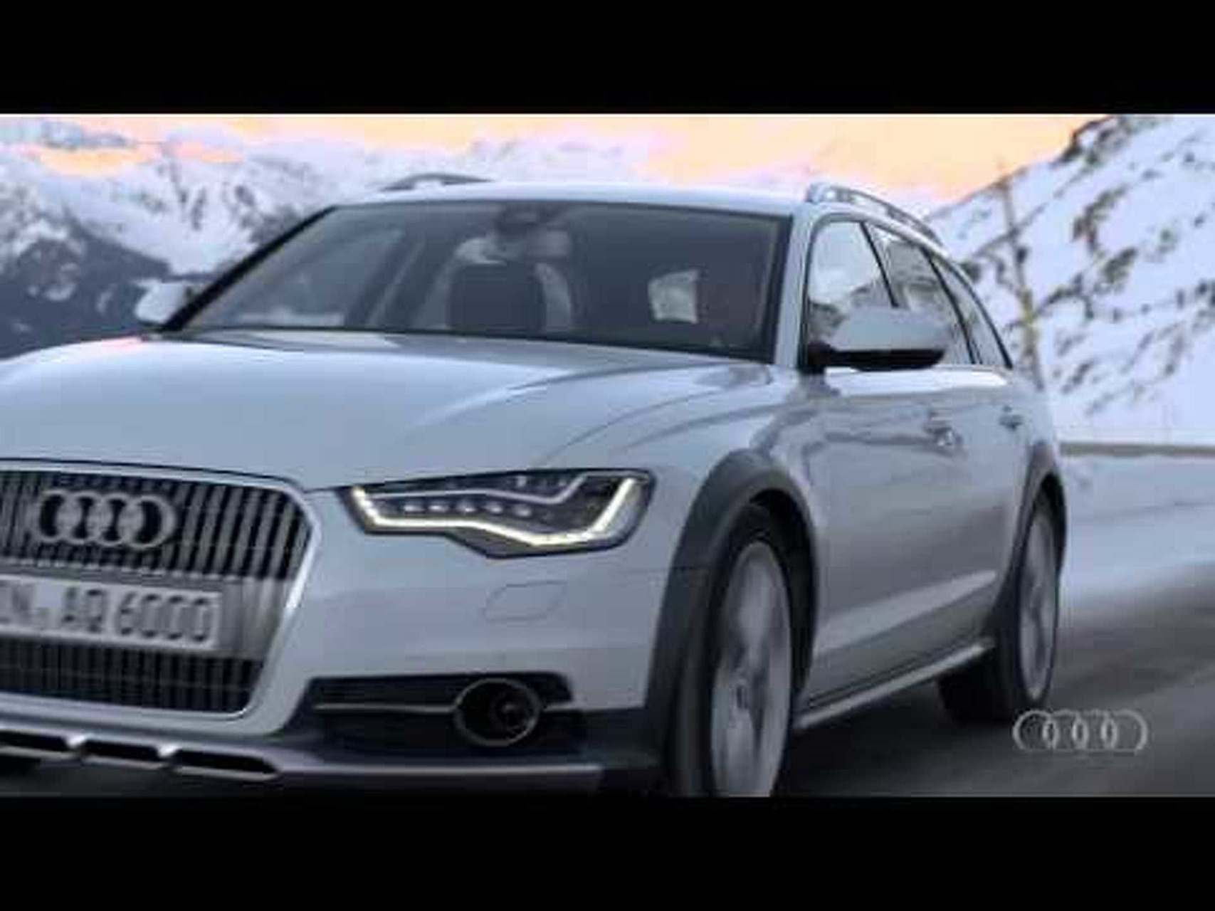 2013 Audi A6 Allroad Quattro Driving Scenes