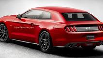 Ford Mustang hatchback render