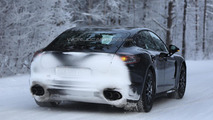 Next generation Porsche Panamera spied up close with minimal camouflage