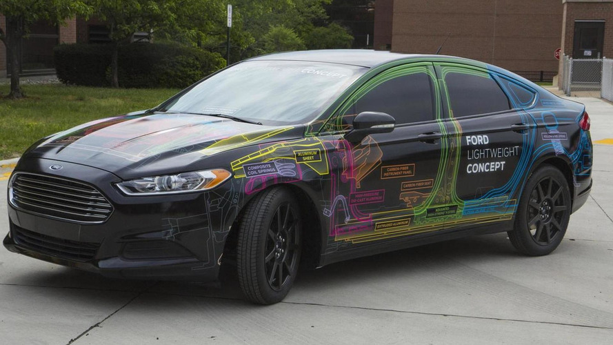 Ford Lightweight Concept Car revealed as a 1,195 kg Fusion/Mondeo [video]