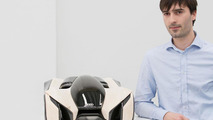 """Design student Pavol Kirnág from the Academy of Fine Arts and Design in Bratislava with his """"Wood Aerodynamics"""" concept 26.11.2012"""