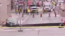 Huge Ottawa sinkhole destroys four-lane road, swallows van!