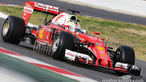 Vettel leads opening morning of Barcelona F1 test