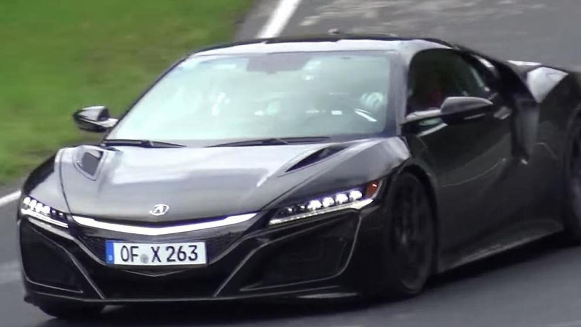 Black 2016 Acura NSX near-production prototype spotted on the Nordschleife [video]