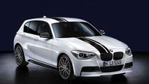 BMW 1 Series, BMW M Performance aerodynamic Kit, top stripes black, kidney grilles black 17.02.2012