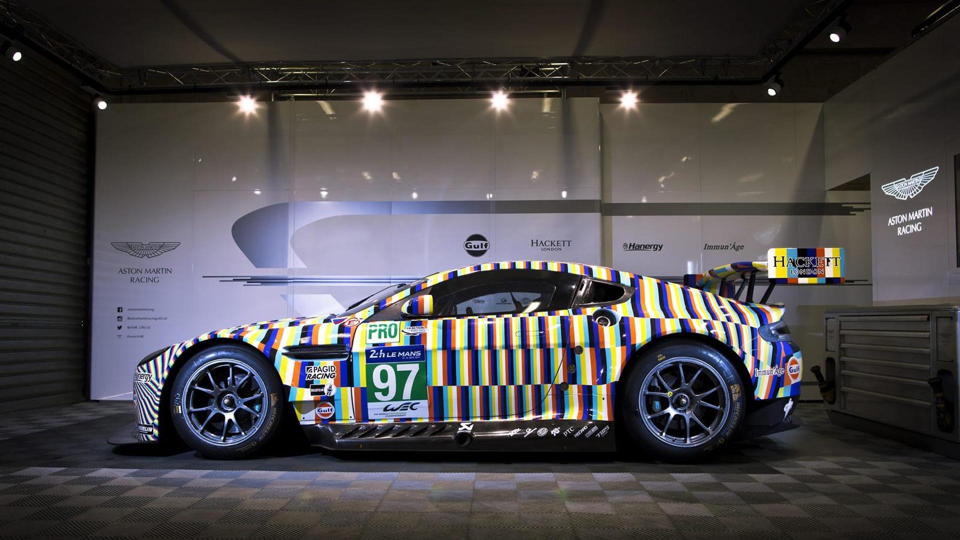 Aston Martin introduces Rehberger Vantage GTE Le Mans art car