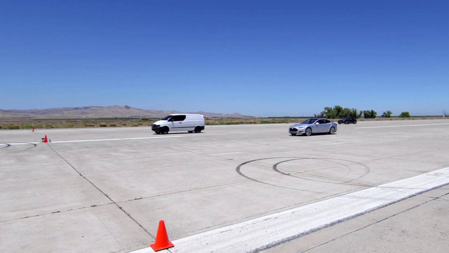 Battery-powered Mercedes van is faster than a Ferrari