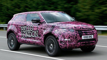 Range Rover Evoque prototypes go under cover 15.07.2010