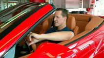 Michael Schumach with Ferrari California