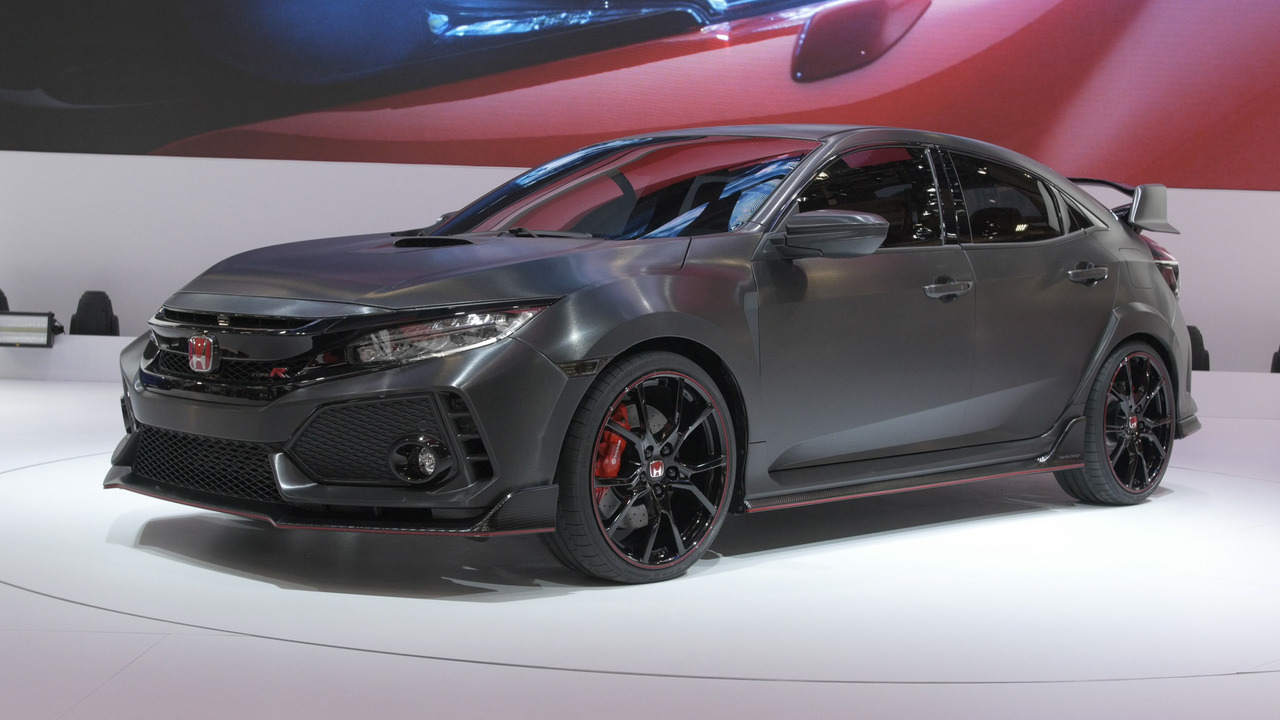 honda civic type r prototype debuts in paris coming to u s. Black Bedroom Furniture Sets. Home Design Ideas