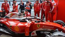 Kimi Raikkonen, Ferrari SF16-H with the F1 Halo cockpit system