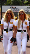 Renault girls in the pit lane - Formula 1 World Championship, Rd 6, Monaco Grand Prix