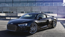 Stunning imagery with Audi R8 V10 Plus Mythos Black from Sweden