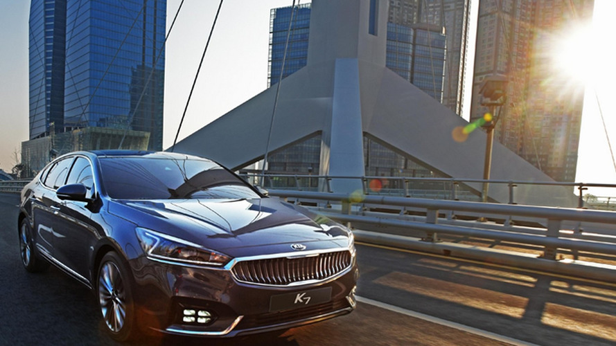2016 Kia Cadenza / K7 returns to show sleek design in real pics