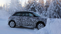 2014 Audi S1 prototype driven by Swedish woman test driver hits snowbank [17 spy photos]