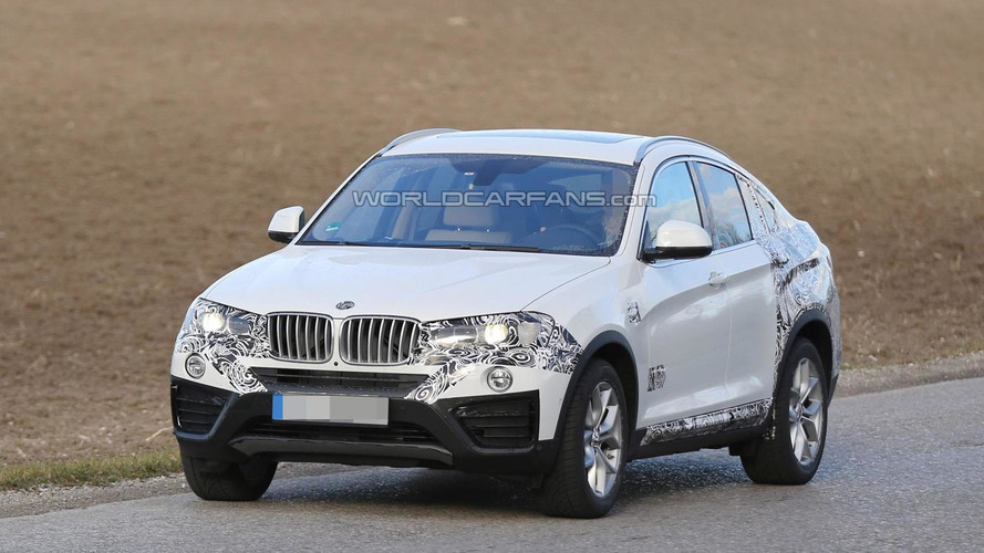 BMW X4 spied up close less disguised