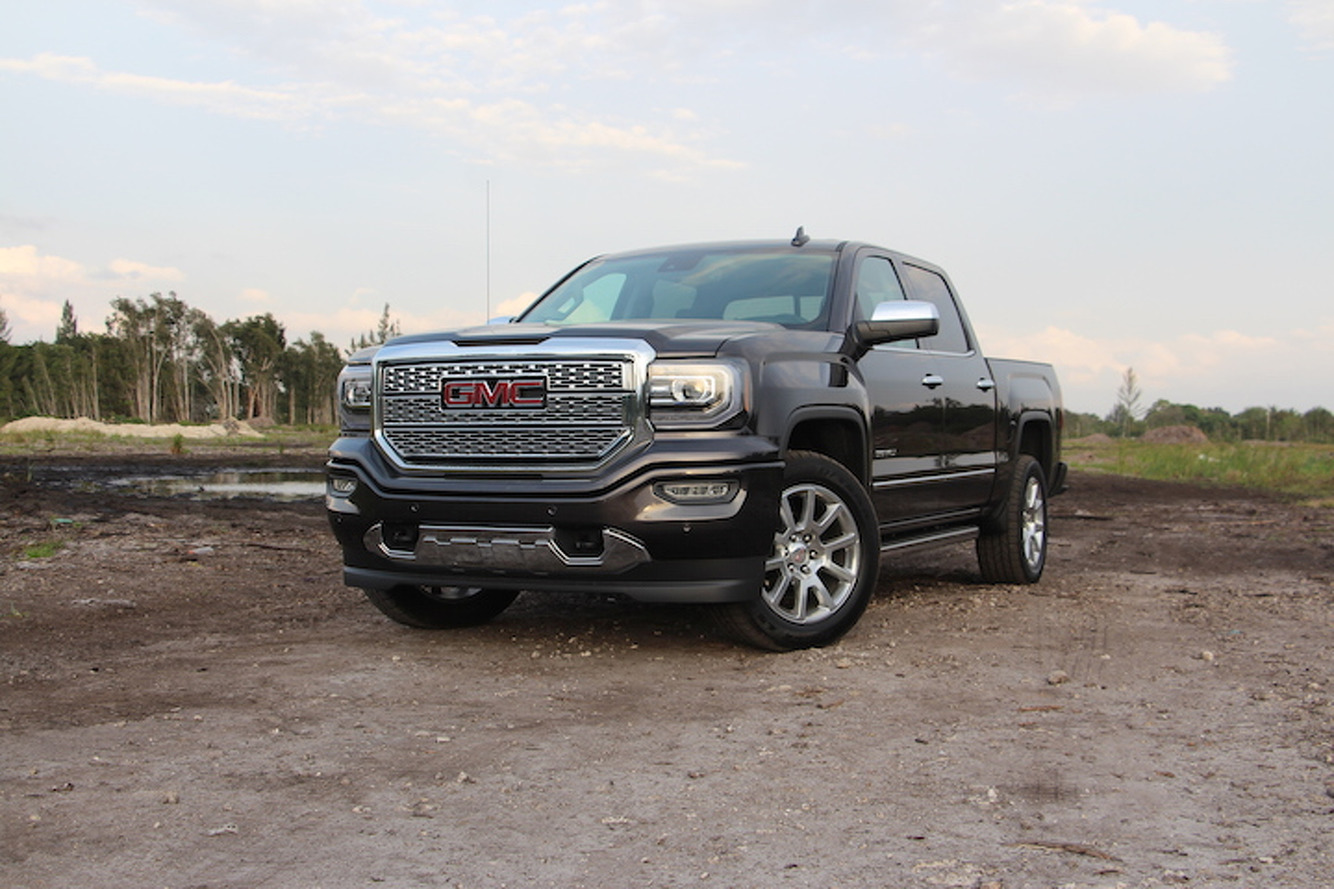 the 2016 gmc sierra 1500 denali is all truck and then some review. Black Bedroom Furniture Sets. Home Design Ideas