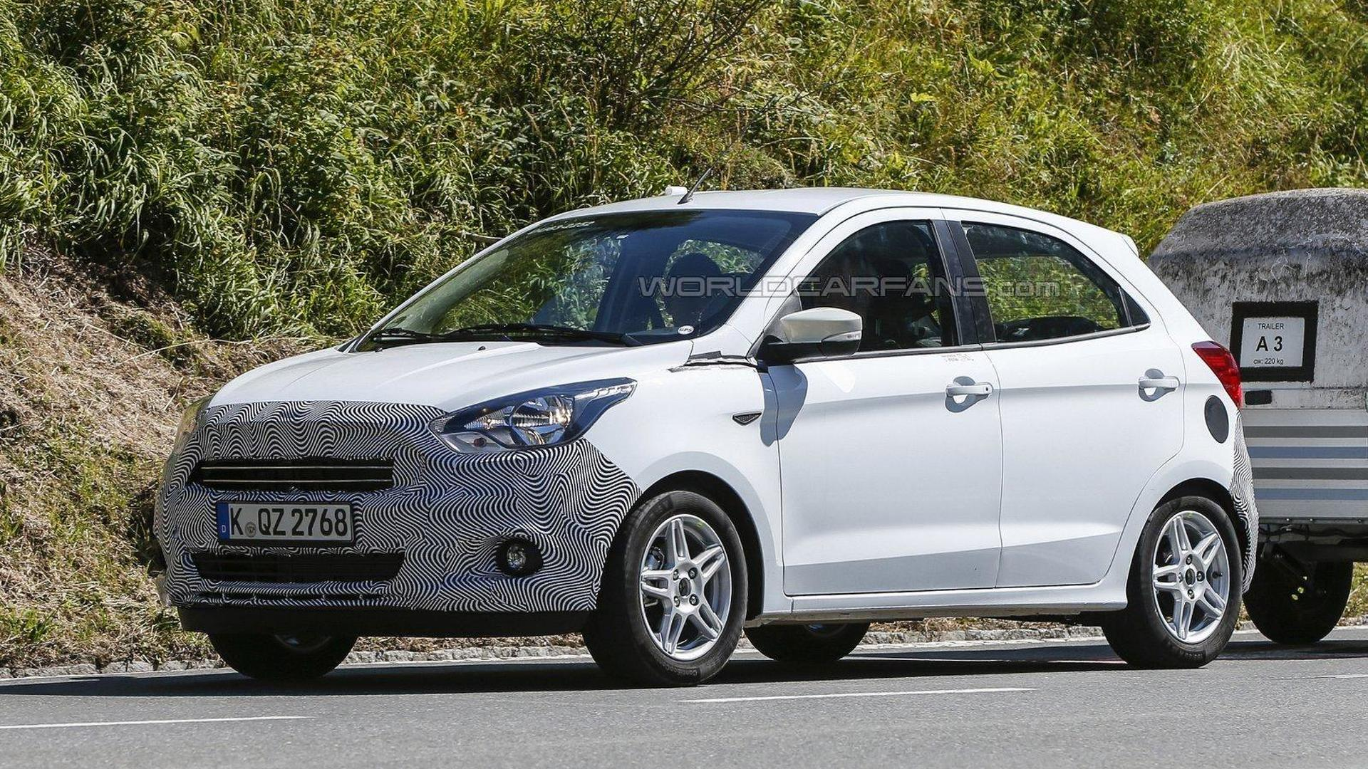 Euro-spec Ford Ka spied undergoing testing