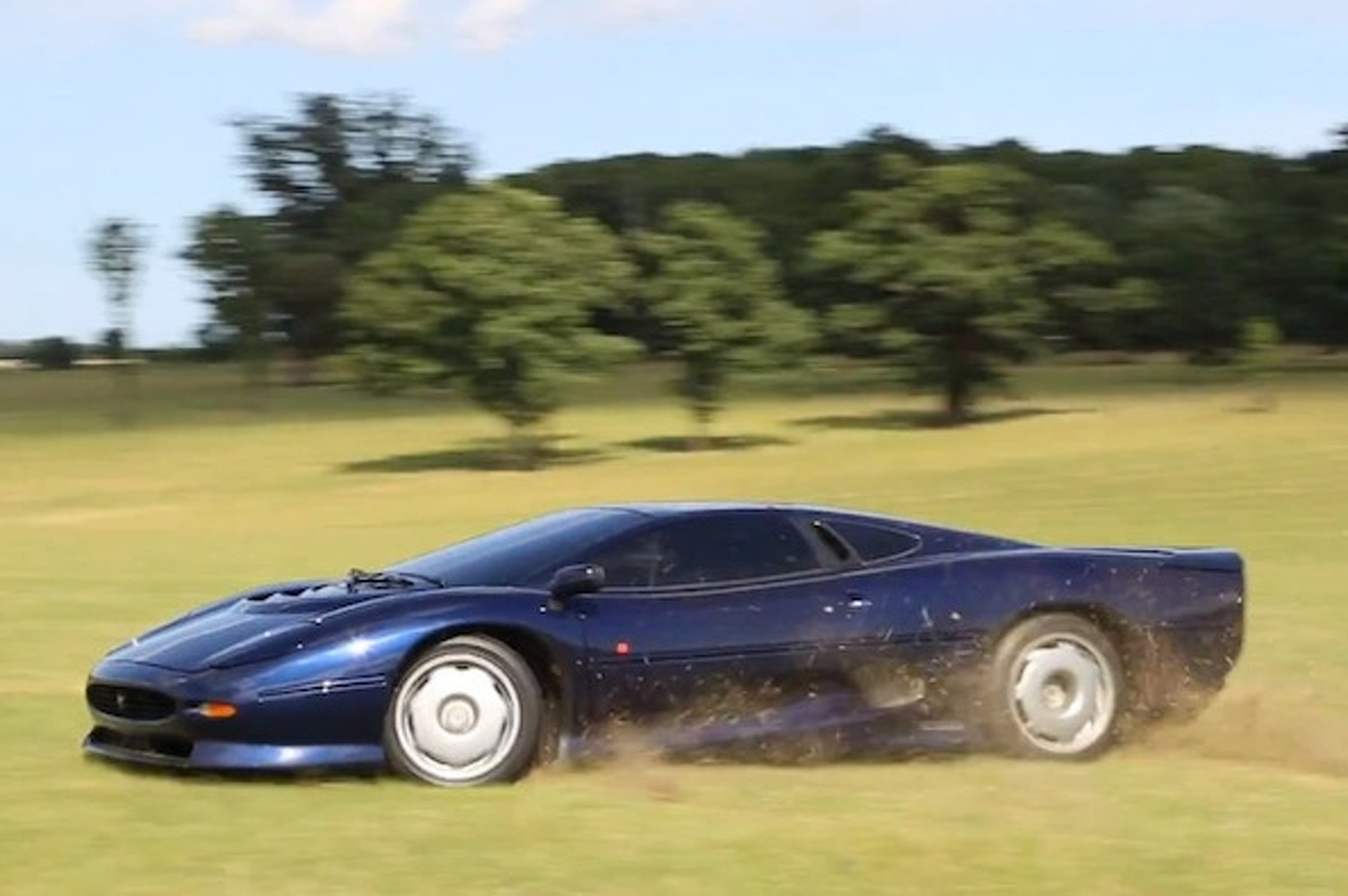 Jaguar XJ220 Gets Down and Dirty on the Farm [video]
