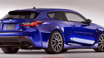 Lexus RC F Shooting Brake render