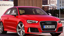 Audi RS3 virtually transformed into sedan, convertible and 3-door hatch