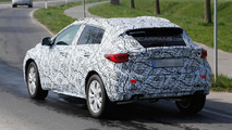 Infiniti QX30 spied carrying swirly camouflage