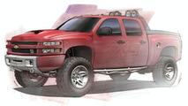 Big Red Chevrolet Silverado Concept