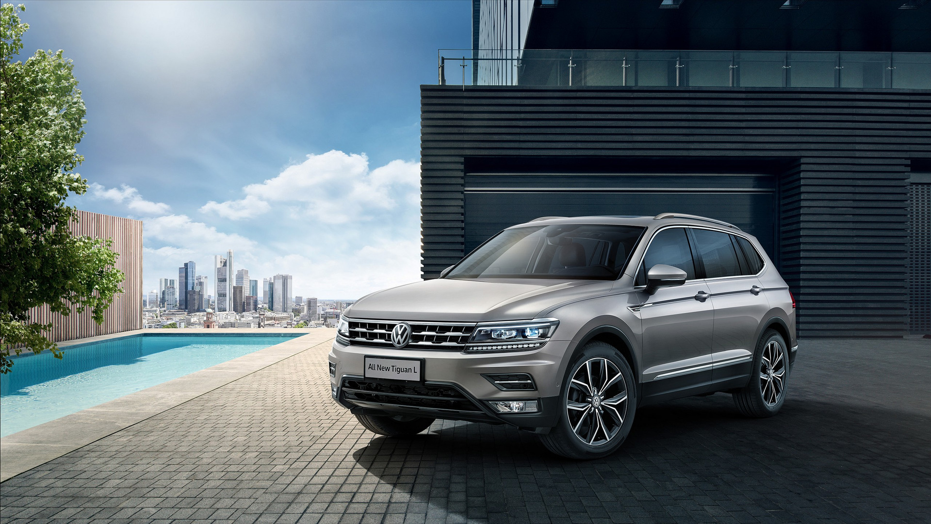 vw tiguan allspace first official images emerge. Black Bedroom Furniture Sets. Home Design Ideas