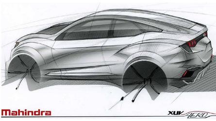 Mahindra XUV Aero coupe-SUV teased