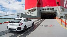 2017 Honda Civic Hatchback spotted en route to U.S.